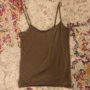 Strappy Greige Tank Top - Small